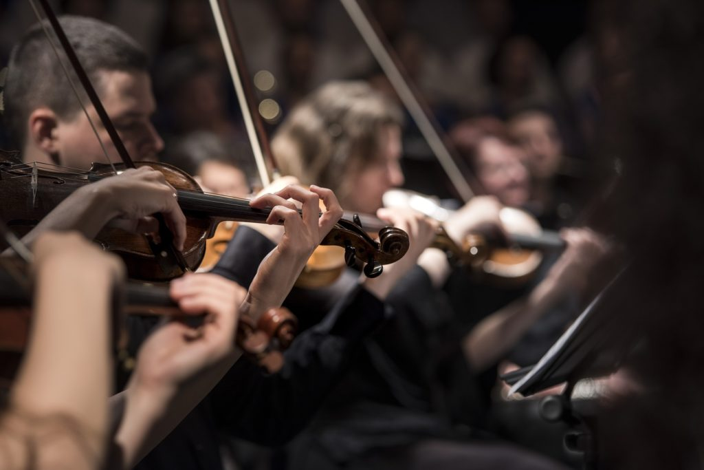 Orchestral music - string section